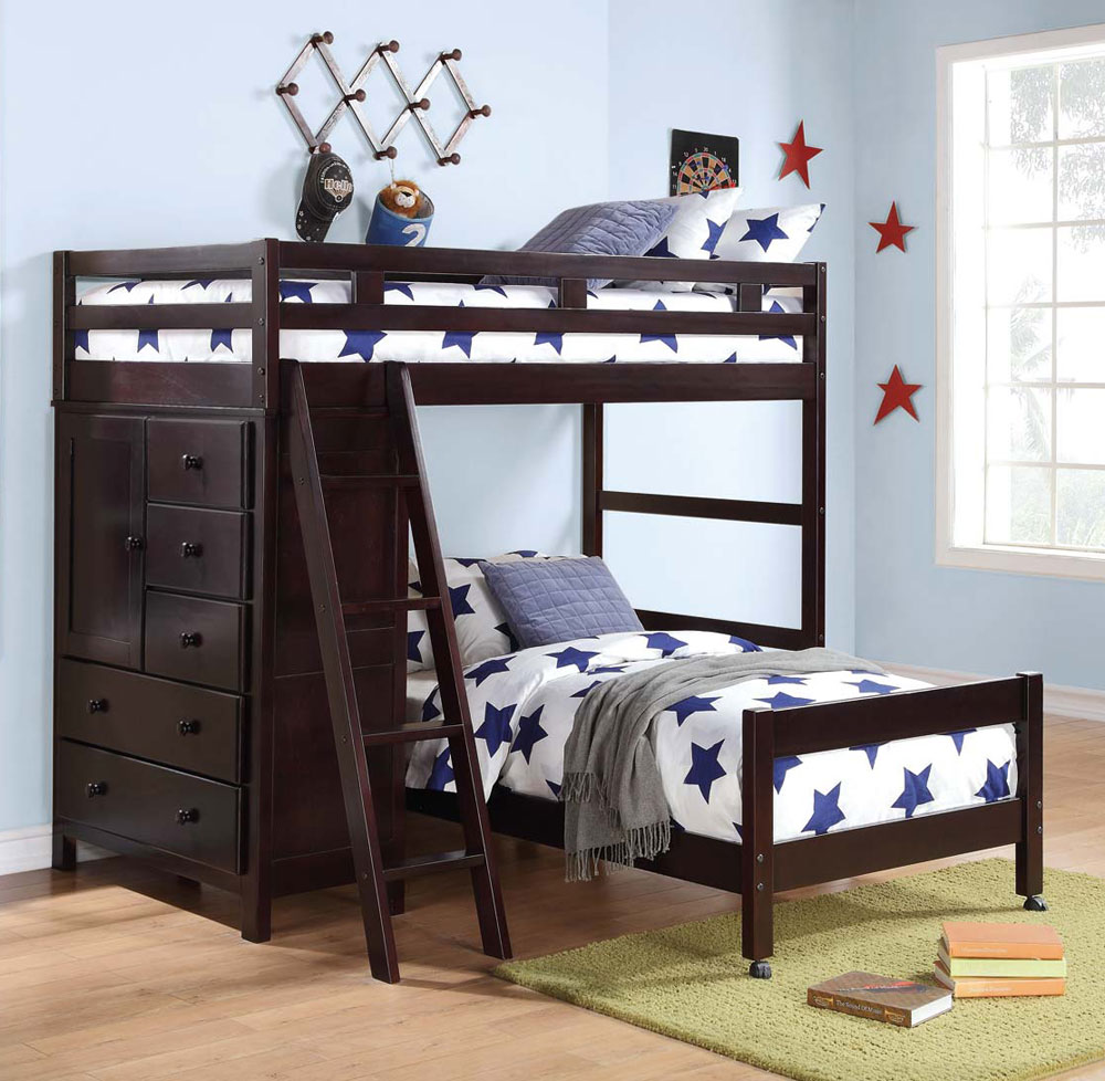 Loft Bed With Storage He012 Kids Bedroom
