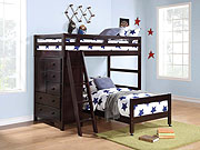 Loft bed with storage HE012