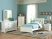 White Twin Bedroom set HE539