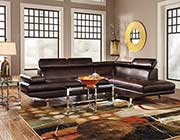 Chocolate Sectional Sofa CO022