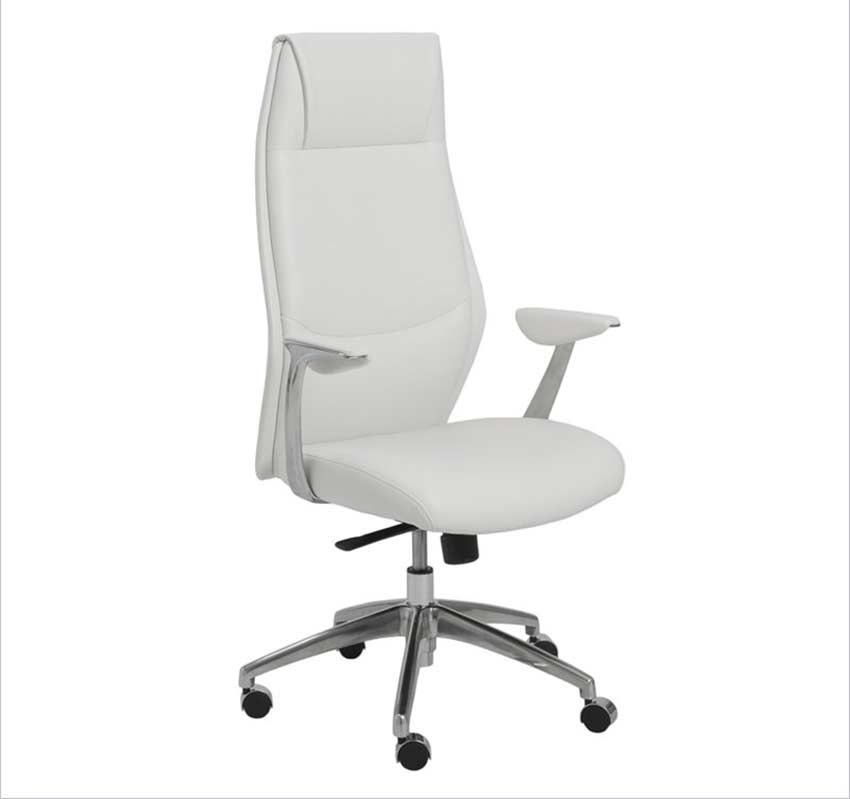 Crosby High Back White Office Chair
