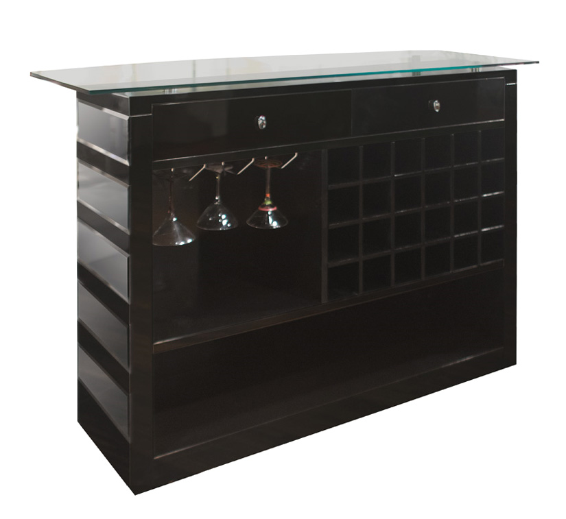 Mirrored Bar Stand And Shelves Bar Furniture Amp Stands