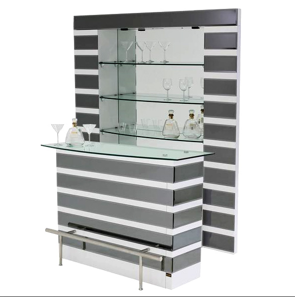 Mirrored bar stand and shelves bar furniture stands for Stand pub