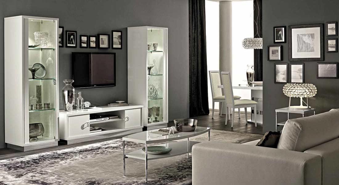 Black Living Room Display Cabinets