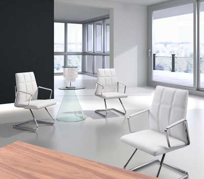 Modern White Conference Chair Z121