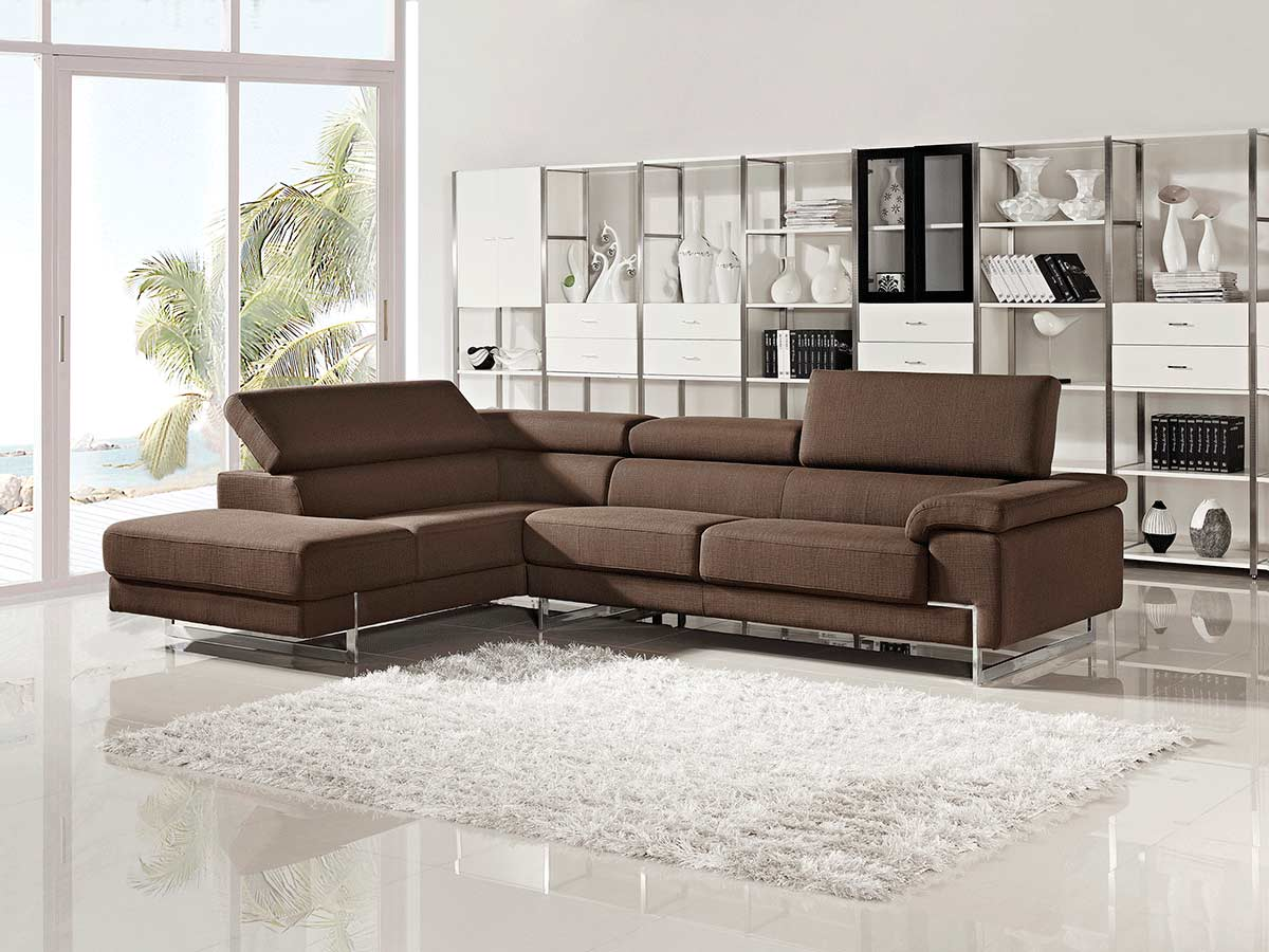 Modern Brown Sectional Sofa Vg316 Fabric Sectional Sofas