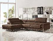 Modern Brown Sectional Sofa VG316
