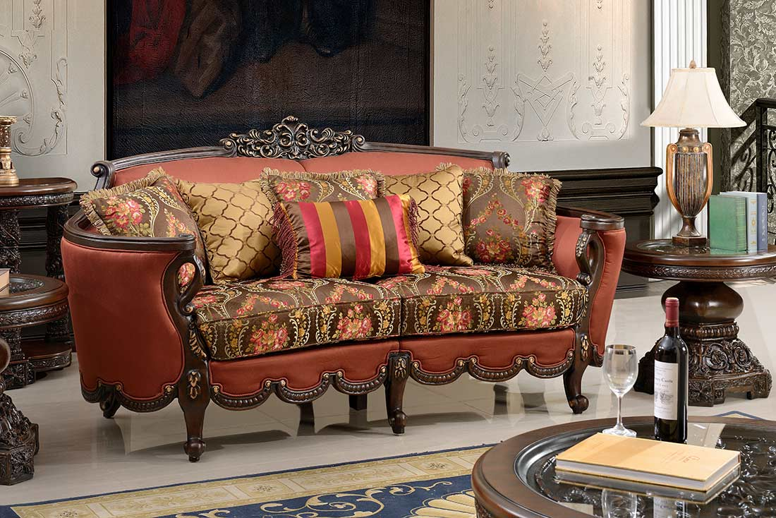 Traditional Upholstered sofa collection HD 31