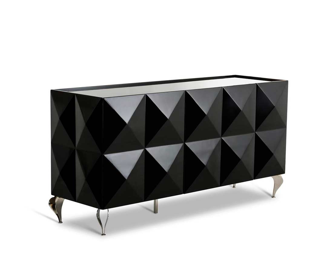 Black Lacquer High Gloss Buffet VG504