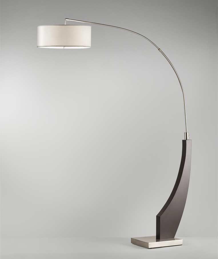 modern arc floor lamp wave nl396 floor table. Black Bedroom Furniture Sets. Home Design Ideas