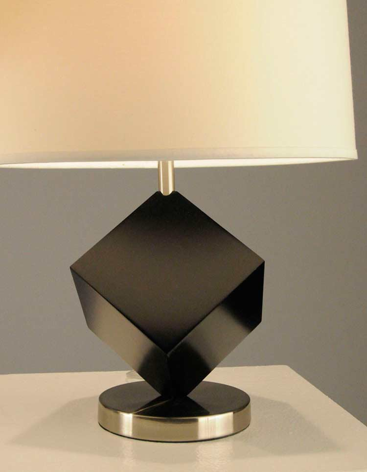 Table Lamp With Black Cube Base Nl612 Floor Amp Table