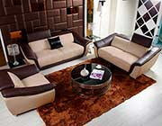 Modern Beige Leather Sofa Set VG376