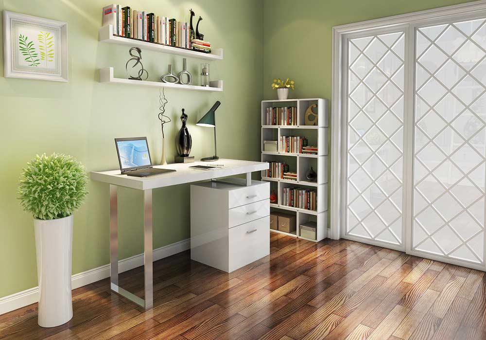 Modern White Gloss Office Desk Sj18 Desks