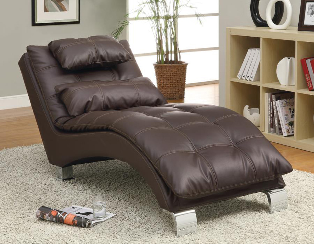 Bonded leather chaise accent seating for Bonded leather chaise