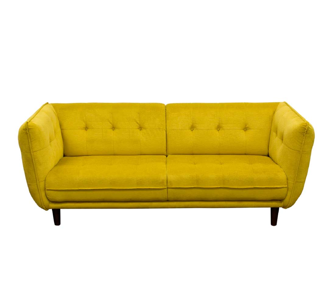 Yellow Fabric Sofa Ds Venita Fabric Sofas