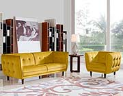 Yellow Fabric Sofa DS Venita
