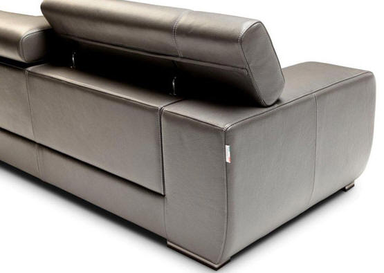 Grace Italian Leather Sectional Sofa By Nicoletti