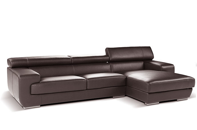 Grace Italian Leather Sectional Sofa By Nicoletti