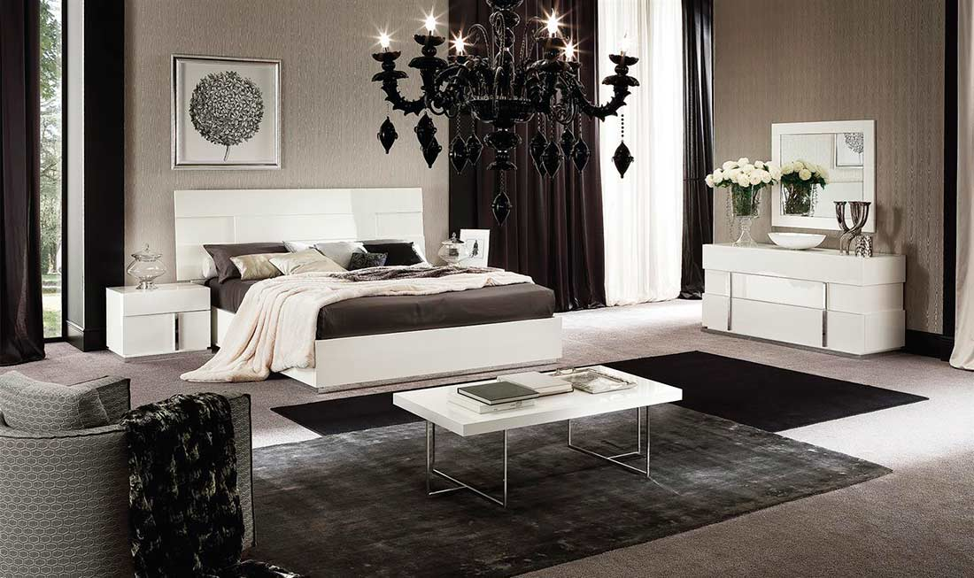 captivating italian contemporary bedroom sets | Italian Ecoleather Canova bedroom by Alf furniture | ALF ...