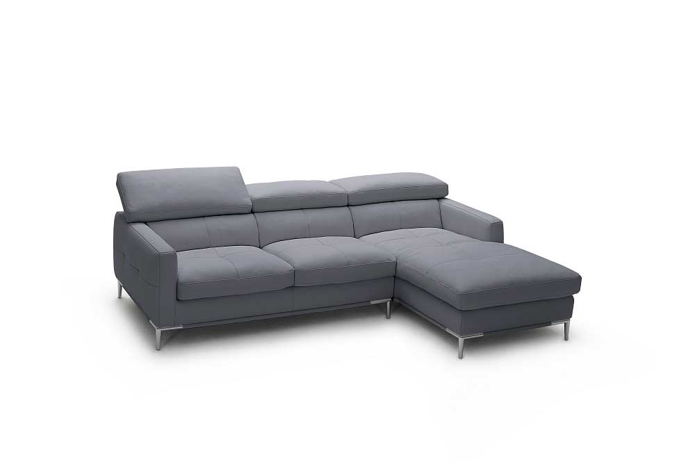 ... Italian Black Leather Sectional Sofa NJ106