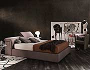 Modern Taupe Platform bed with Storage NJ087