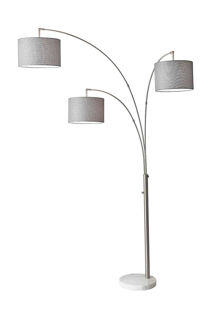 Brushed Steel 3 Arm Arc Lamp Ad 022 Floor Amp Table