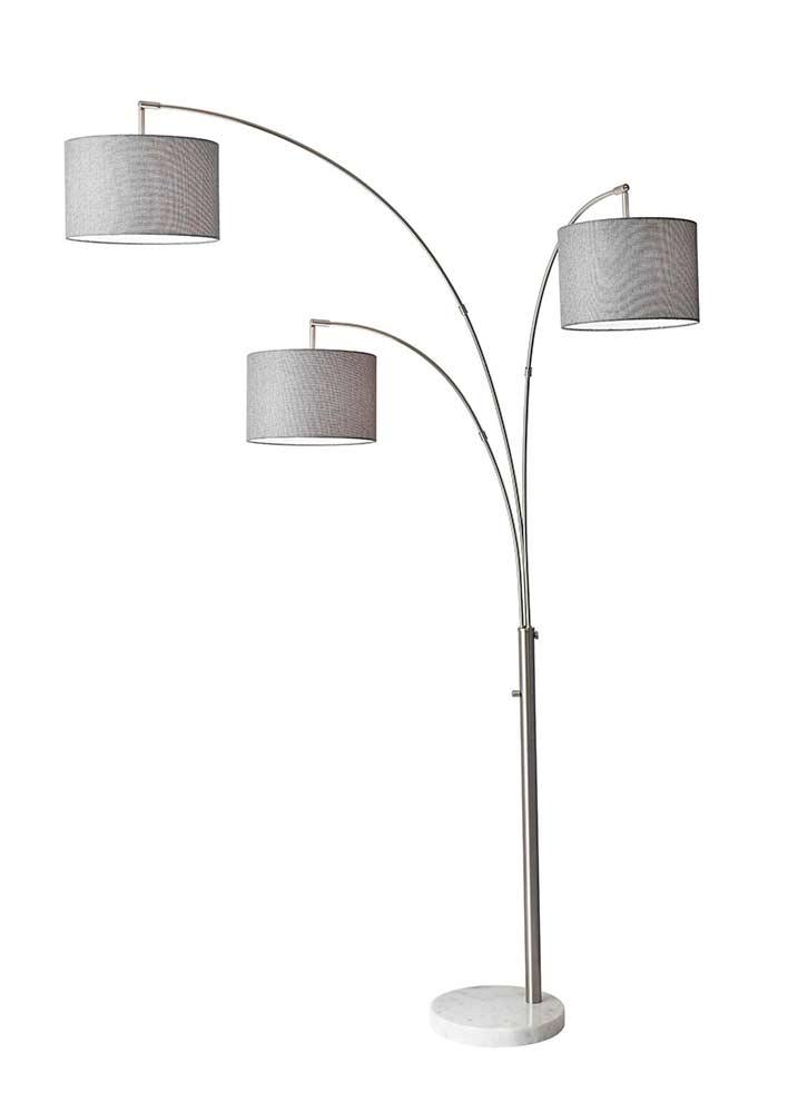 lamps lighting floor table brushed steel 3. Black Bedroom Furniture Sets. Home Design Ideas