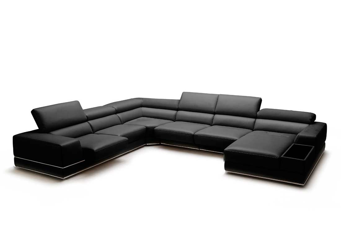 Sectional Furniture Of Full Leather Sectional Sofa Viva Leather Sectionals