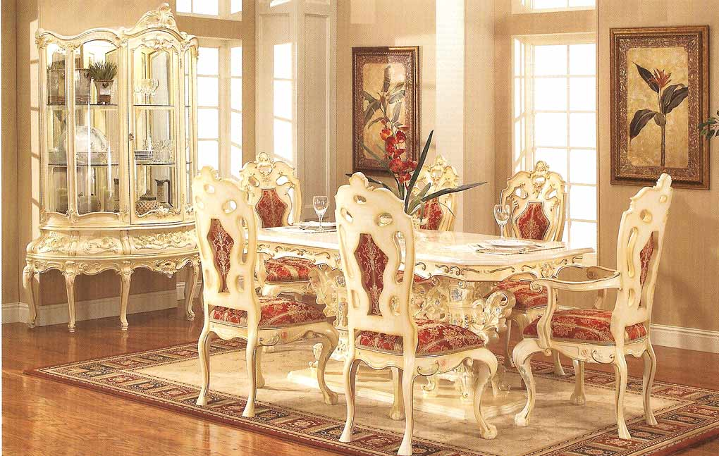 provincial dining 755 baroque dining tables. Black Bedroom Furniture Sets. Home Design Ideas