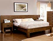 Low Profile Plank Style Bed in Rustic Finish FA50