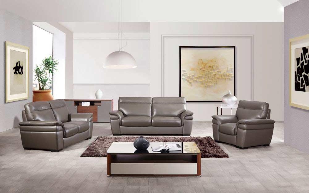 Italian Taupe Leather Sofa Set Aek 20tp Leather Sofas