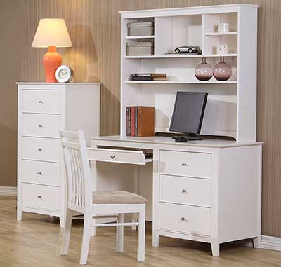 White Wood Computer Desk CO 237