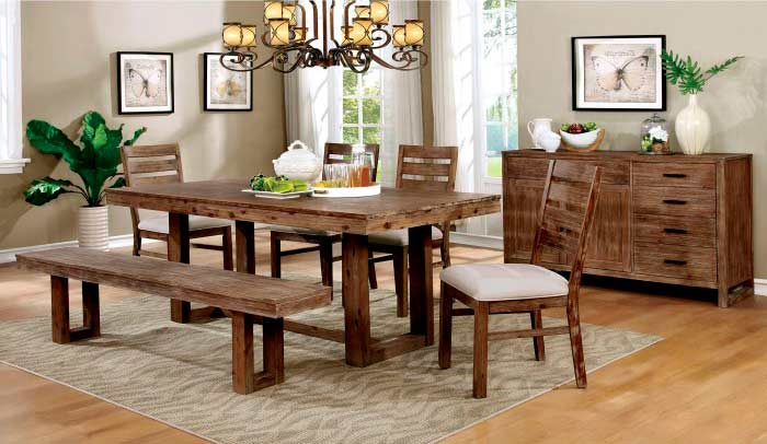 natural wood dining table set fa358 modern dining