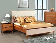 Oak Padded Fabric Bed FA387A
