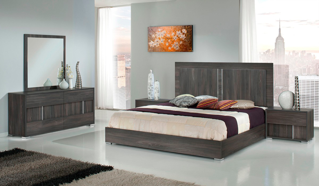 Alle white gloss modern bedroom set modern bedroom furniture for Gray bedroom furniture sets