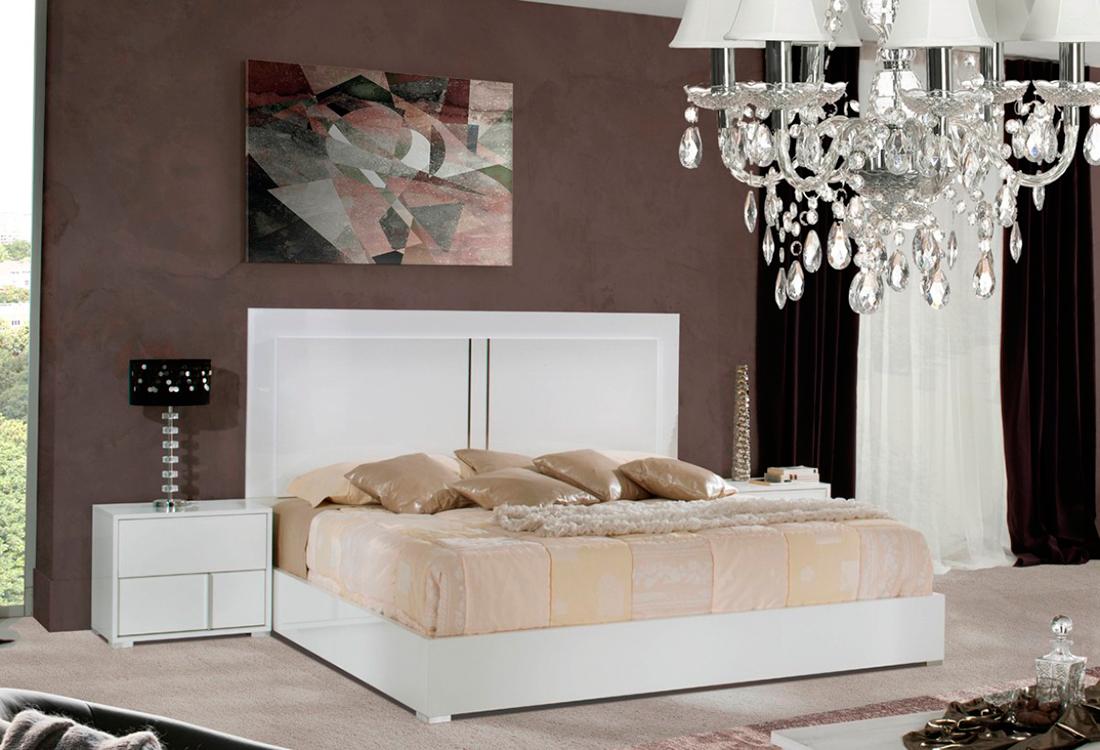 Alle white gloss modern bedroom set modern bedroom furniture for Modern white bedroom furniture