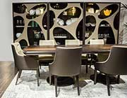 21 Cosmopolitan Taupe Dining table by AICO