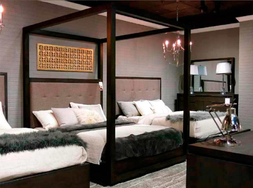 Basalt Grey Canopy Bed Ms Orsina Modern Bedroom Furniture