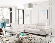 Light Grey Leather Sectional Sofa EF 511