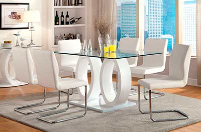 White Wood Dining Table FA 825T