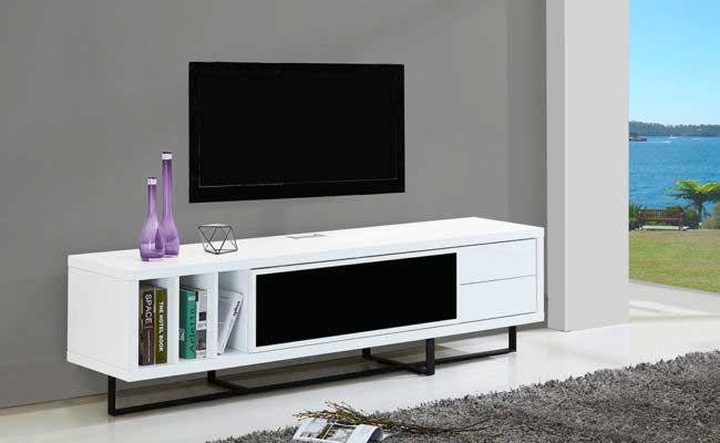 White High Gloss Tv Stand Bm 180 Tv Stands