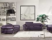 Purple Italian leather sofa set AE012