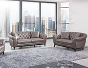 Taupe Italian leather sofa set AEK 093
