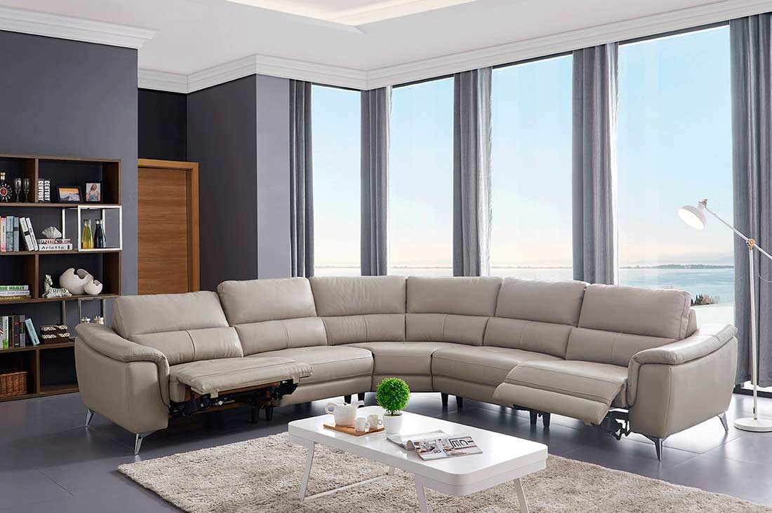 Electric Recliner Sectional Sofa Ef 51 Leather Sectionals