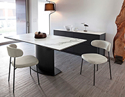 Discovery Anthracite Extendable Table by Domitalia