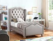 Metallic Leatherette Twin bed CO 824