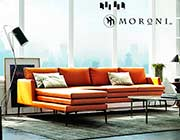 Rica Orange Sofa by Moroni