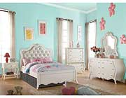 Pearl White Kids Bed AC Edana