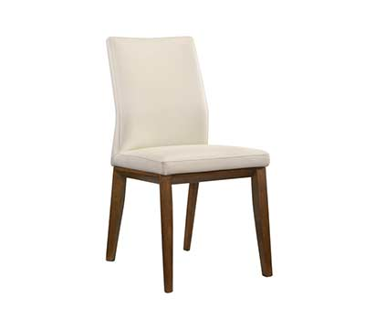 White Leather Side Chair KB 637