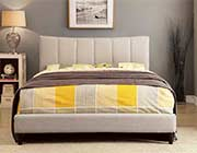 Beige Fabric Bed FA Enias